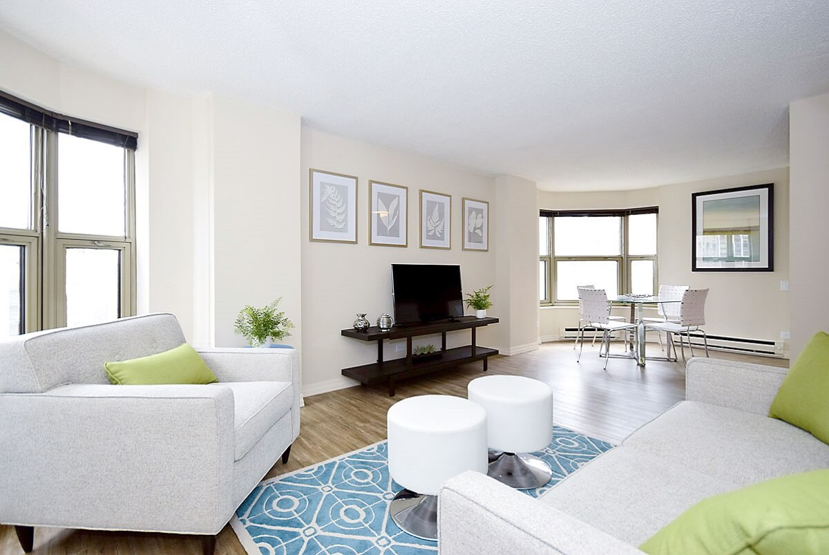 Living Room Setup With Al Furniture From Brook At Chestnut Place